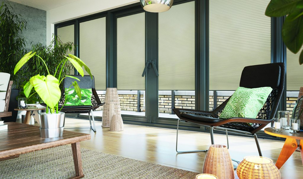 Keep your home cool with blinds made from Solar Protective Coated fabric available from Norwich Sunblinds