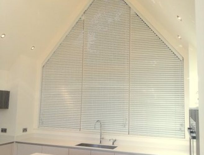 Unusual shaped bathroom blinds