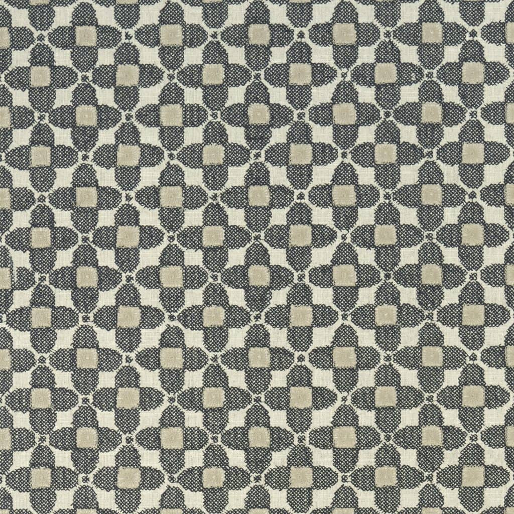 geometric print fabric sample