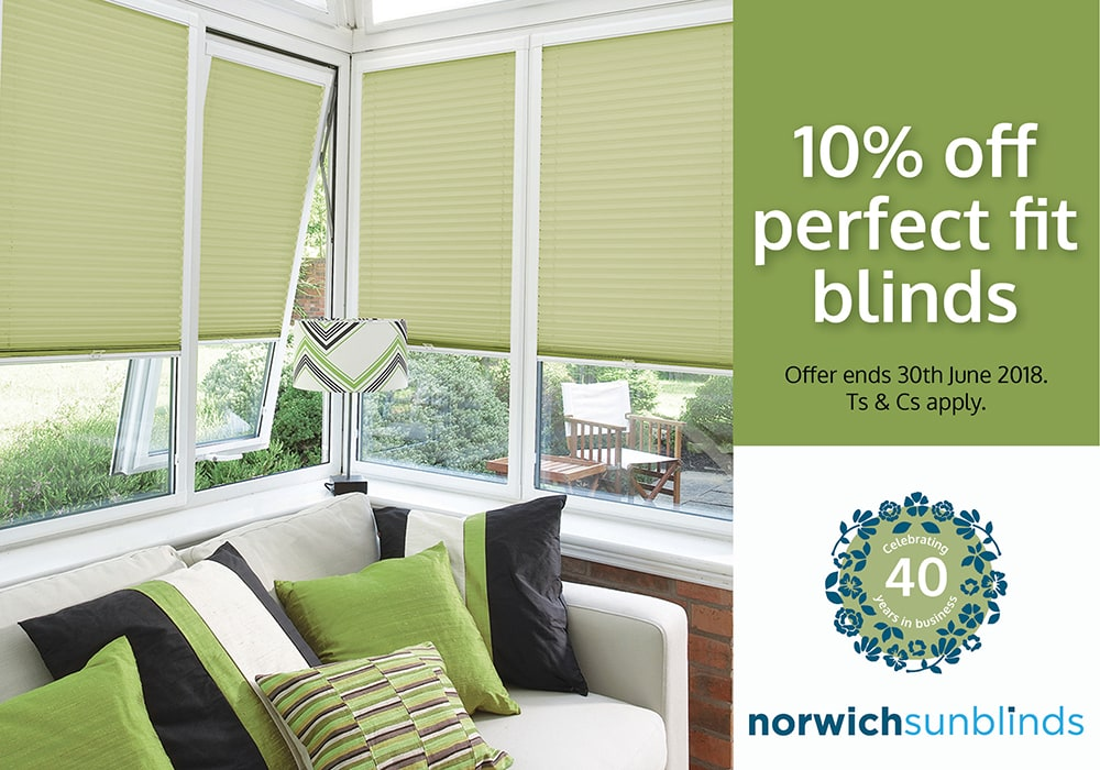 10% off perfect fit blinds
