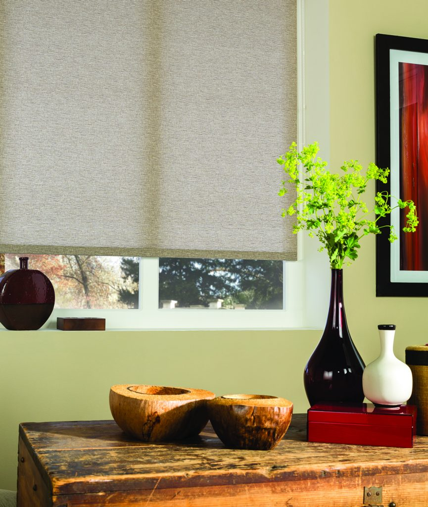 Oatmeal colour roller blinds