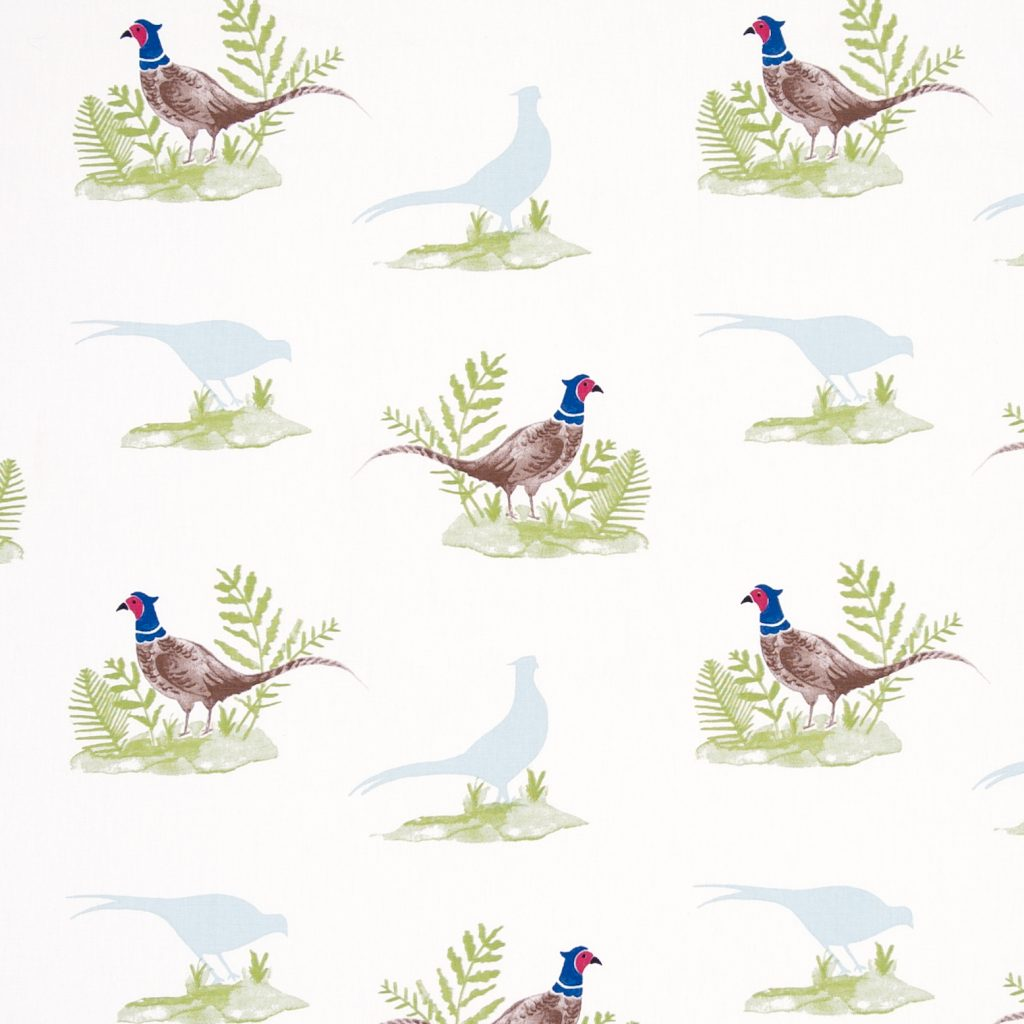 Pheasant design fabric