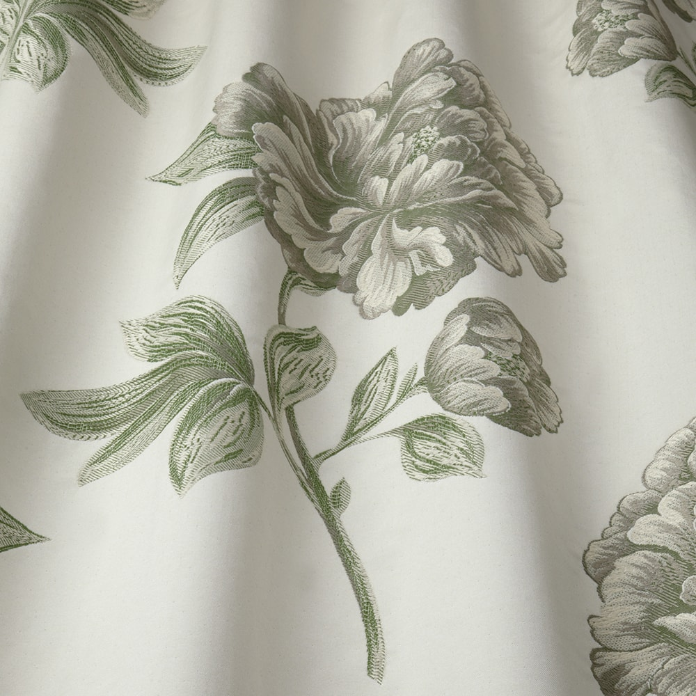 Delicate Camellia flower pattern fabric sample