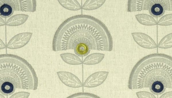 Fabric Sample - green, with modern print design - Blinds Norfolk - Norwich Sunblinds