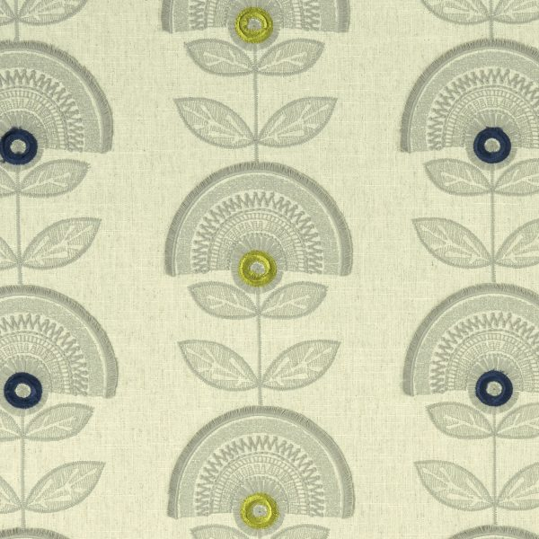 Fabric Sample - green, with modern print design