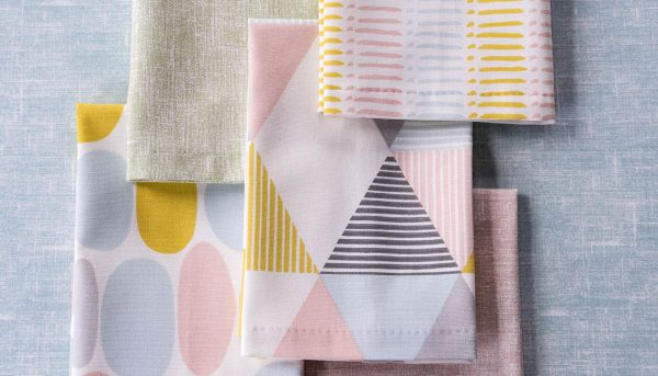 Pastel coloured fabric samples - Blinds Norfolk - Norwich Sunblinds
