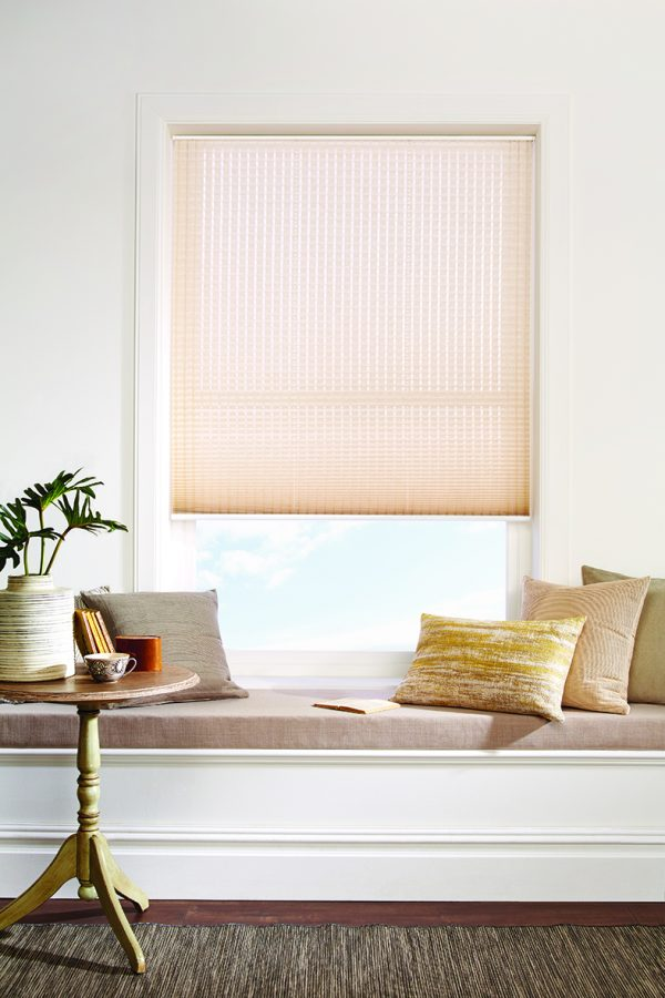 Cream pleated blind - Blinds Norfolk - Norwich Sunblinds