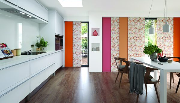 Strikingly beautiful panel blinds in Carnival and Coral designs - Blinds Norfolk - Norwich Sunblinds