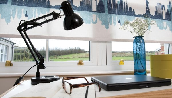Roller blinds in Cosmopolitan fabric - Blinds Norfolk - Norwich Sunblinds