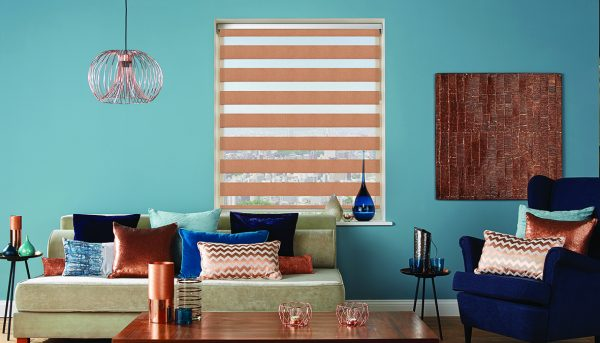 A striking vision blind in Verona copper - Blinds Norfolk - Norwich Sunblinds