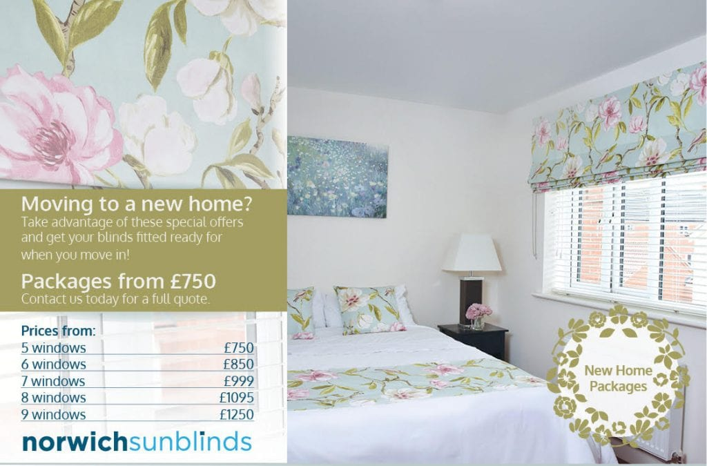 New Home Package Pricing - Blinds Norfolk - Norwich Sunblinds