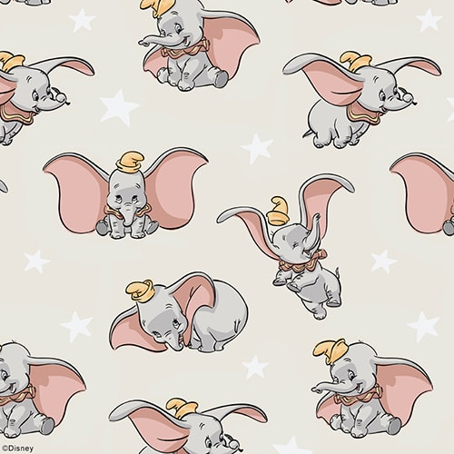 Dumbo: ©Disney, fabric by Louvolite