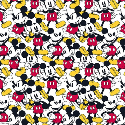 ©Disney Original Mickey fabric design by Louvolite