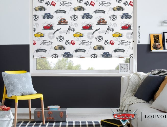 Disney Pixar Cars: ©Disney/Pixar blinds in child's bedroom - Blinds Norfolk - Norwich Sunblinds