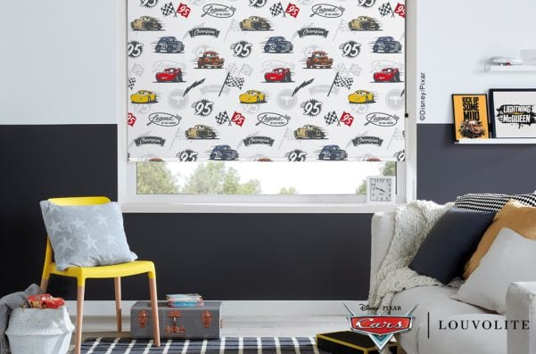 Disney Pixar Cars: ©Disney/Pixar blinds in child's bedroom