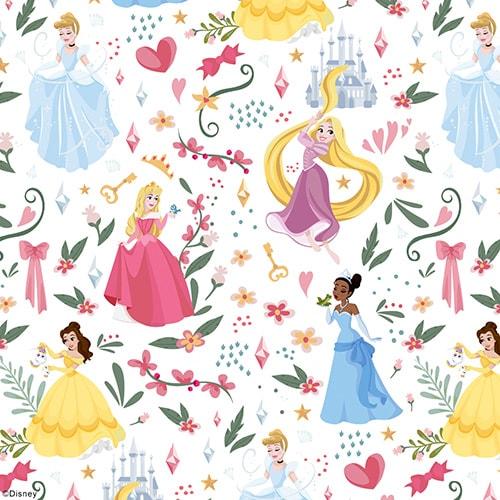 Sprinkle a little magic Disney Princess fabric design by Louvolite. - Blinds Norfolk - Norwich Sunblinds