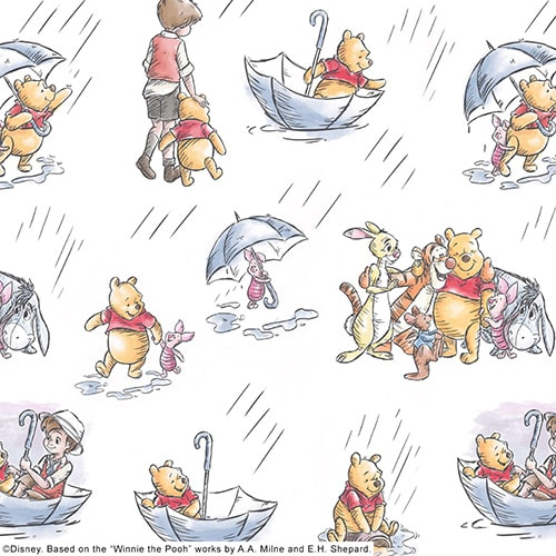 Winnie The Pooh and Friends window blind fabric - Blinds Norfolk - Norwich Sunblinds
