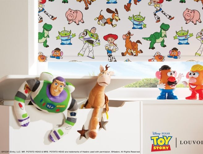 Disney Pixar Toy Story window blind, fabric by Louvolite - Blinds Norfolk - Norwich Sunblinds