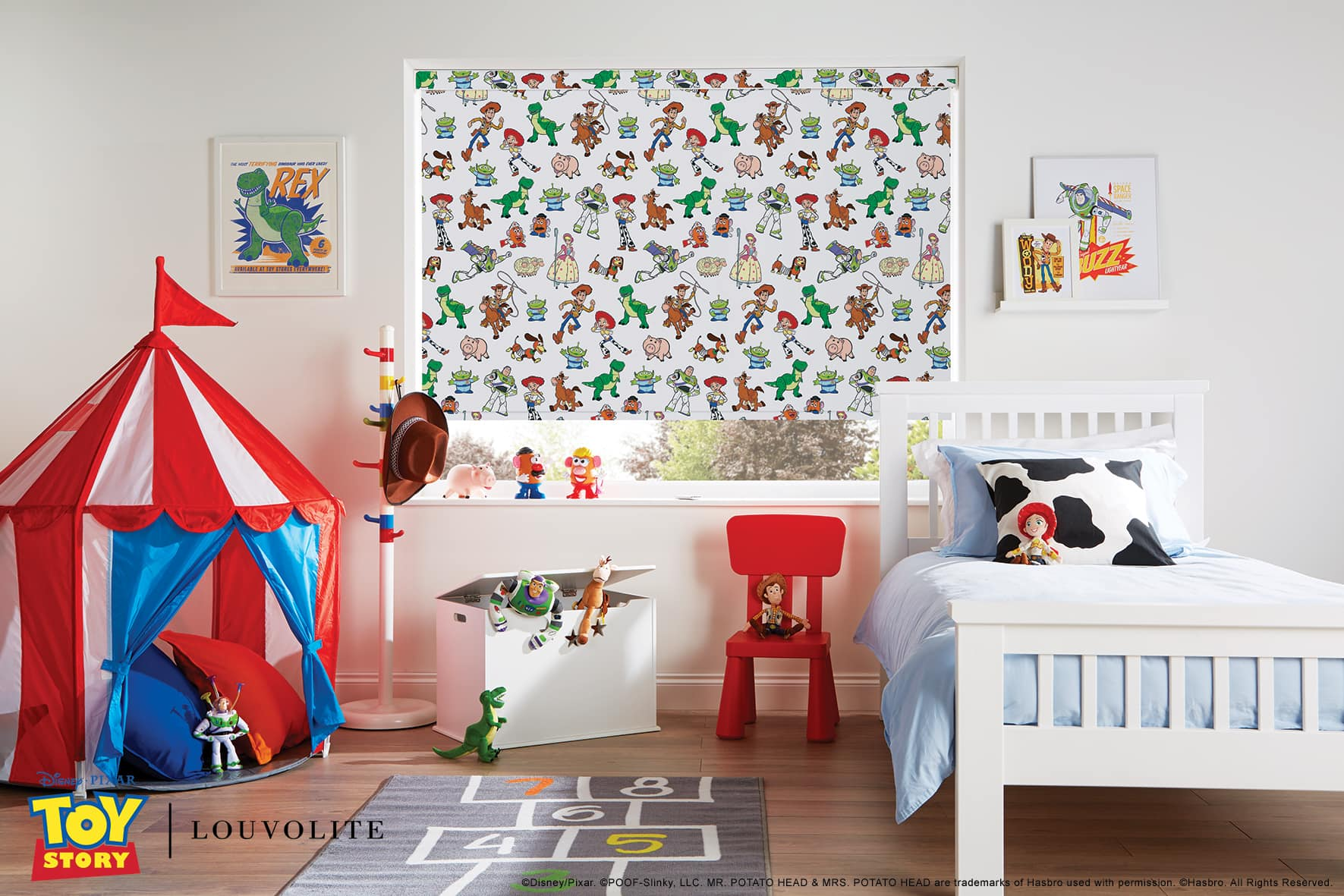 Disney Pixar Toy Story window blind in child's bedroom
