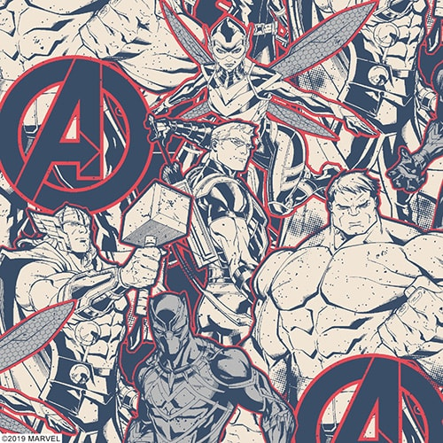 Digital sample of Marvel Heroes fabric by Louvolite