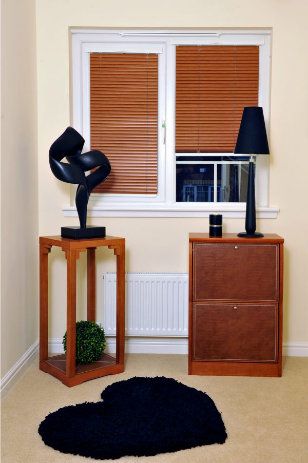 Bronze coloured aluminium venetian blinds
