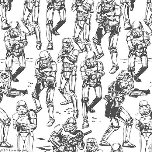 Star Wars™ Stormtrooper digital fabric sample by Louvolite - Blinds Norfolk - Norwich Sunblinds
