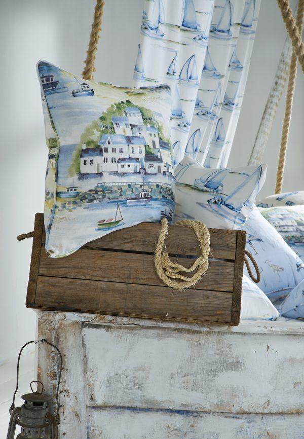 Seascape Riviera Cameo fabric by iLiv