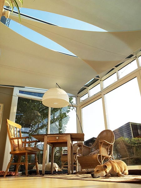 Sails for garden rooms.
