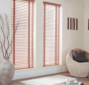 For a classic look go for venetian wooden blinds