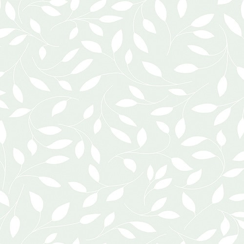 white leaves on a light grey background digital fabric sample.