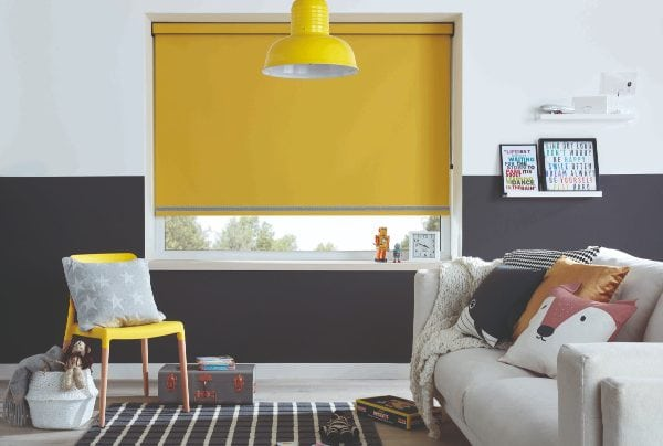 Acacia coloured blackout blind