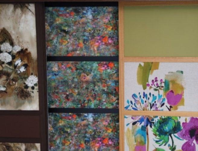fabrics in shoji blind panels