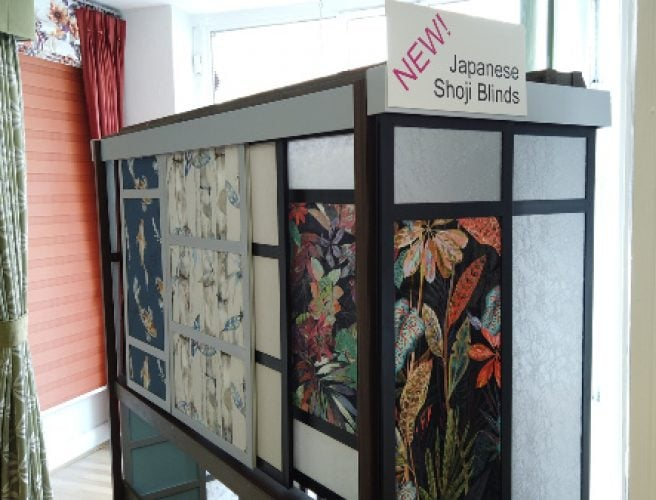 Display panels in the Norwich Showroom