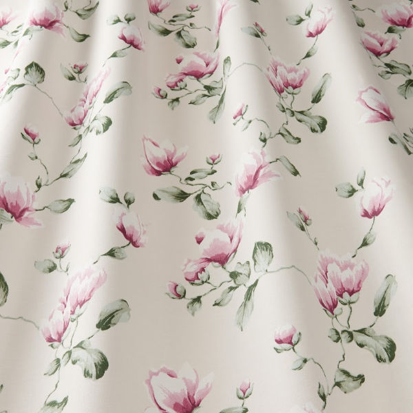 digital fabric sample showing dainty blossoms on a cream background - Blinds Norfolk - Norwich Sunblinds