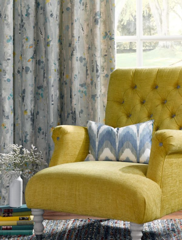 Silver and light blue curtains - Curtains Norfolk - Norwich Sunblinds