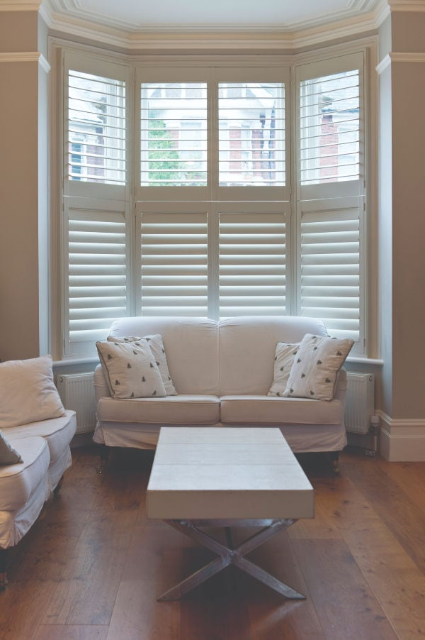 Shutters work well for bay windows Visit our Norfolk Showrooms to see our stylish plantation shutters