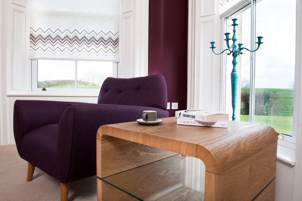 Choose from a wide range of fabrics and designs Chevron fabric by RA Irwin - Blinds Norfolk - Norwich Sunblinds
