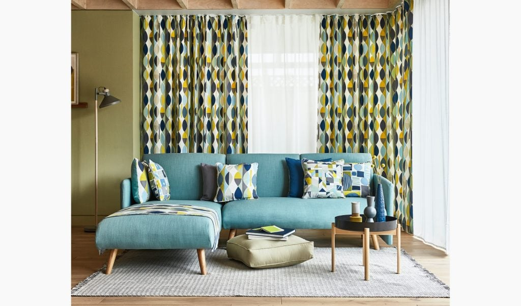 Go retro with a bold print - Curtains Norfolk - Norwich Sunblinds