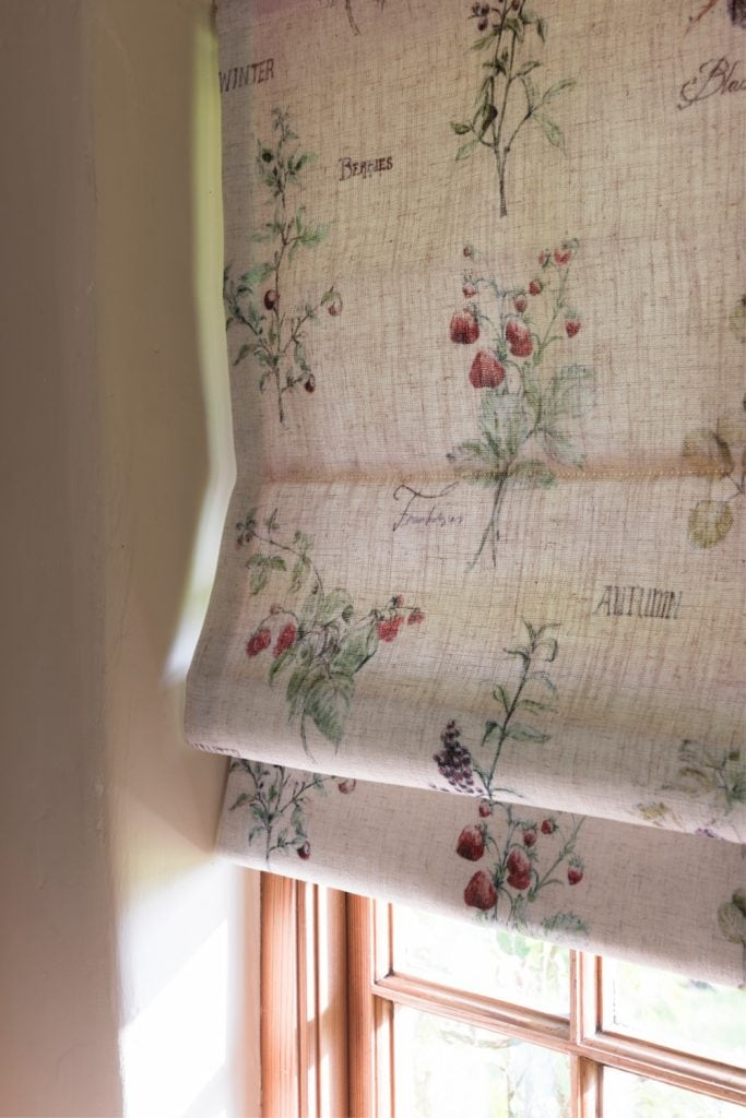 Roman Blind in a Countryside fabric - Blinds Norfolk - Norwich Sunblinds