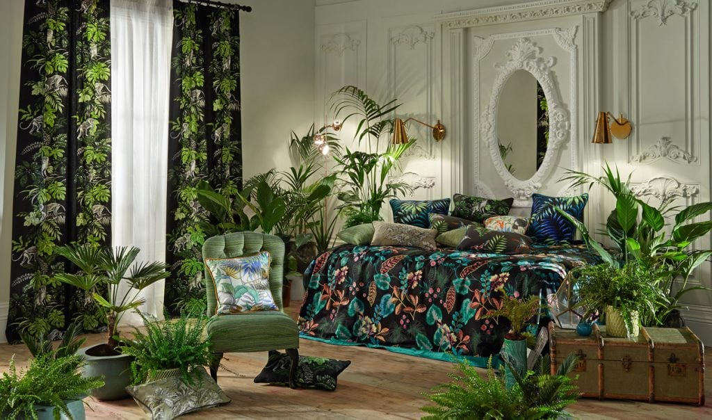 Curtains and furnishings made in Rainforest fabric - Blinds Norfolk - Norwich Sunblinds