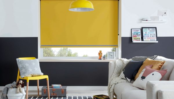 Acacia Blackout Blind in a Living Room. Blinds Norfolk - Norwich Sunblinds