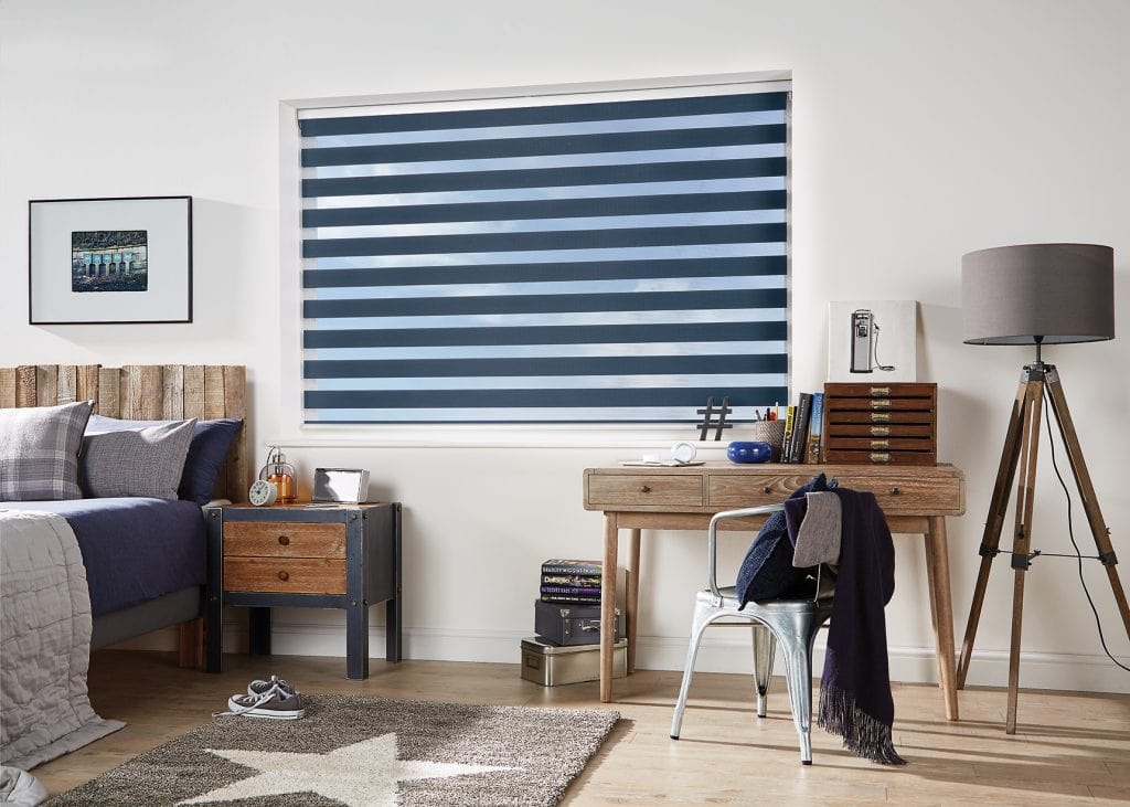 Vision Blinds combine a modern look with the ability to control the light and shade during the daytime as well as providing a good level of darkness at night