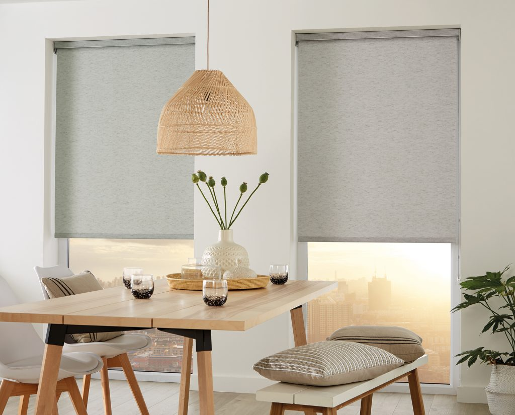 Opt for simple yet stylish interiors Roller blinds in Linara Birch fabric - Blinds Norfolk - Norwich Sunblinds