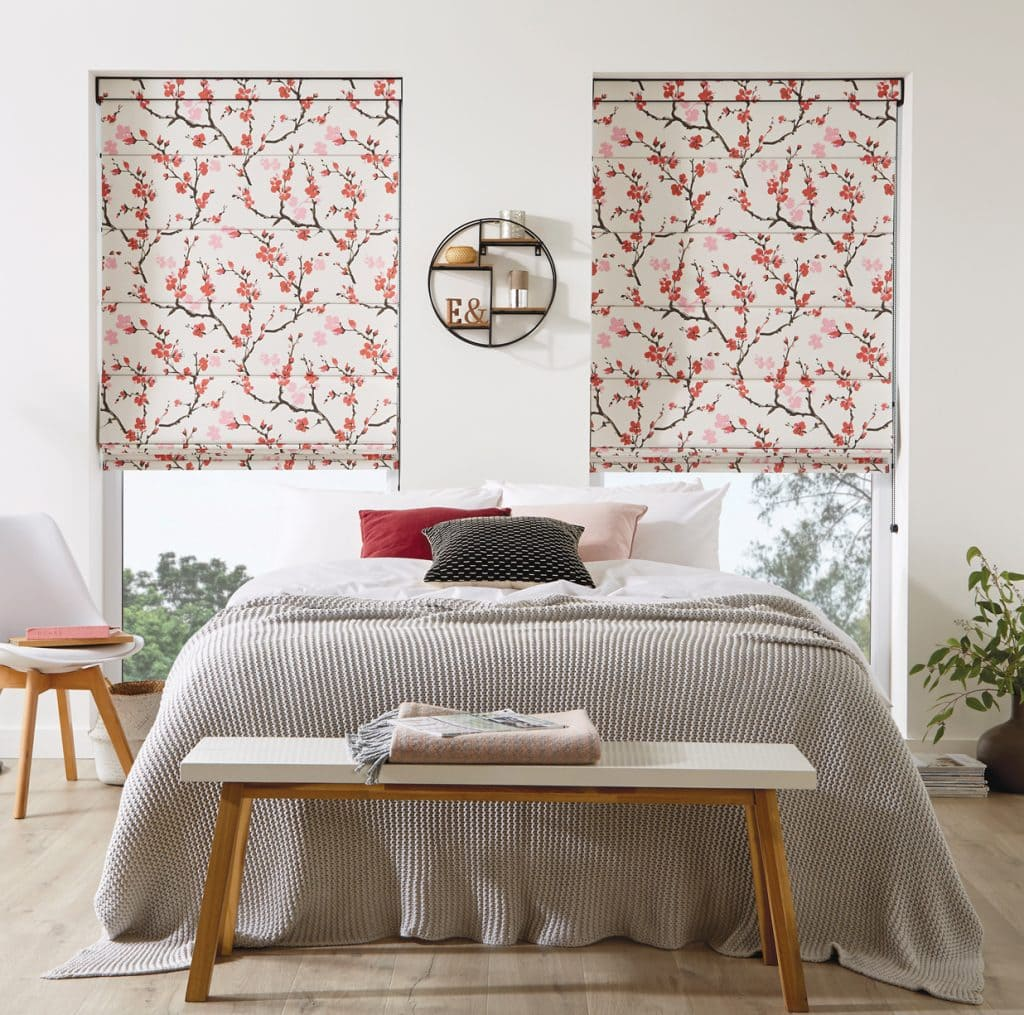 Cherry Blossom Geisha fabric - Blinds Norfolk - Norwich Sunblinds
