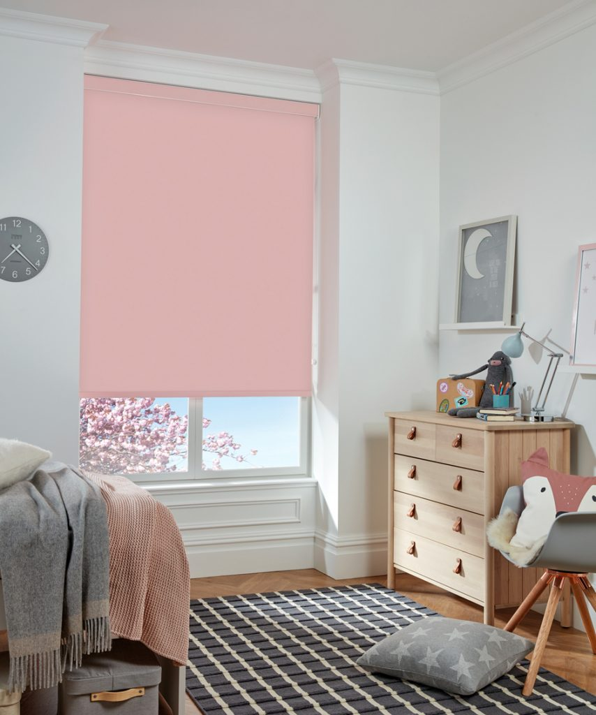 Blush pink blinds are ideal for the little ones and grown ups - Roller blinds - Norwich Sunblinds