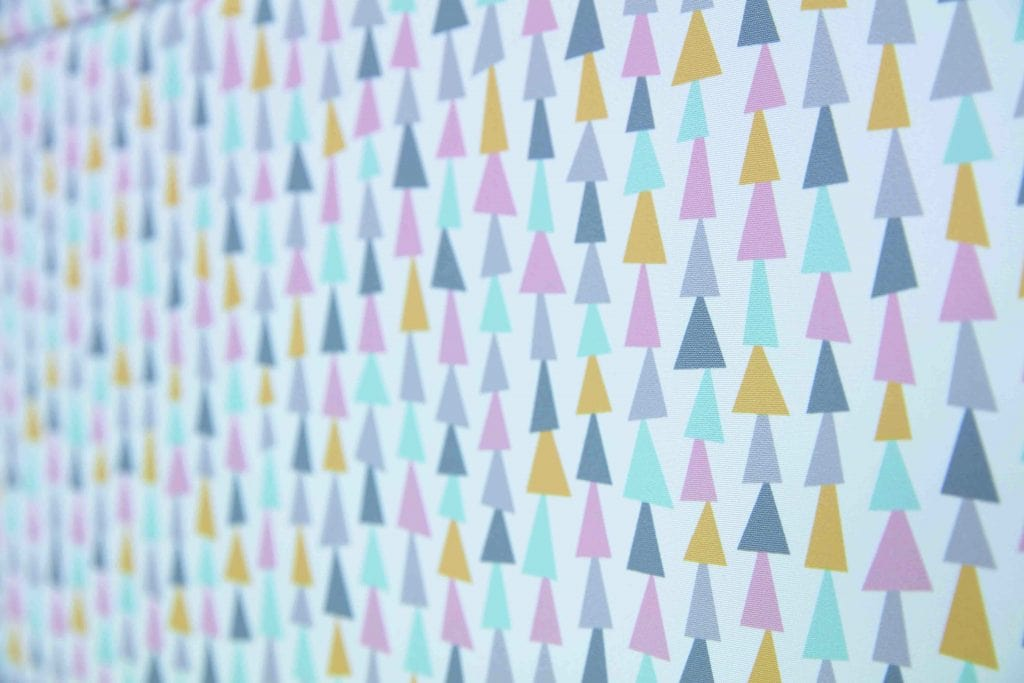 Roman blinds in Topsy Pastel fabric - Blinds Norfolk - Norwich Sunblinds