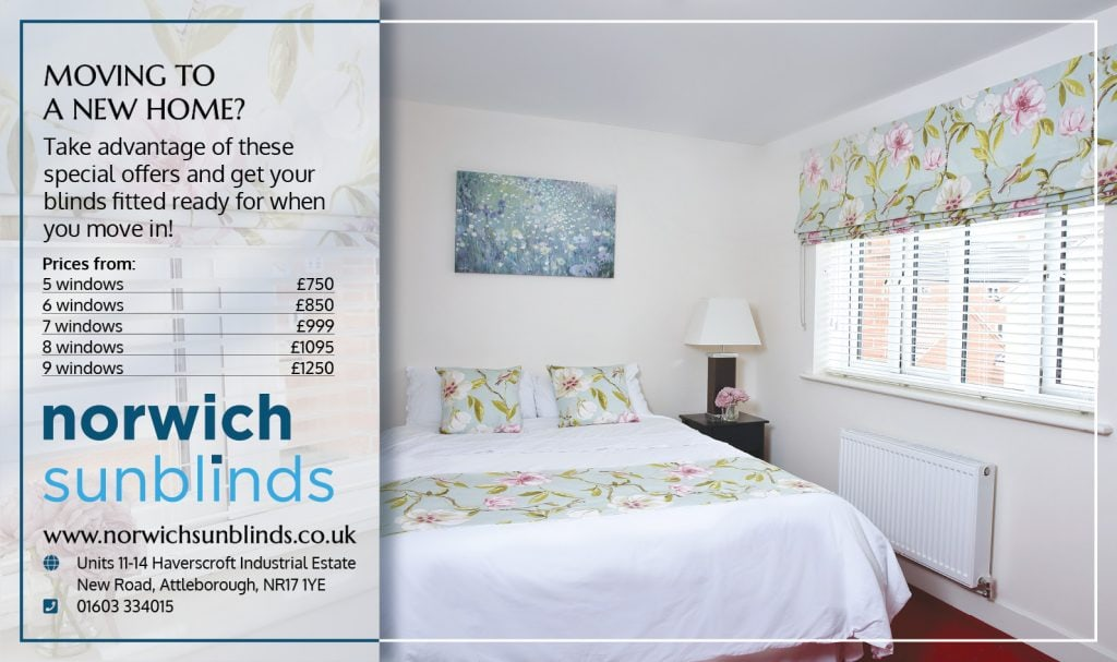 Special offer for New Home Owners from Norwich Sunblinds - Blinds Norfolk - Norwich Sunblinds