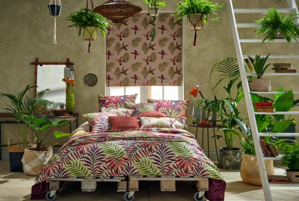 Make a style statement with a fabric design from the Rainforest range - Blinds Norfolk - Norwich Sunblinds
