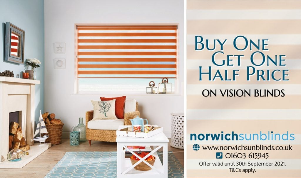 Buy One Vision Blind, Get One Half Price - Blinds Norfolk - Norwich Sunblinds